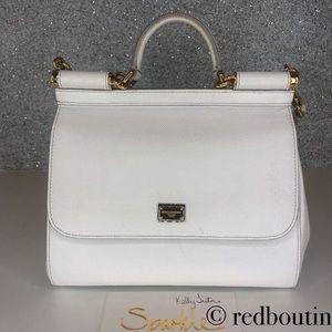 Dolce & Gabanna medium miss Sicily bag white